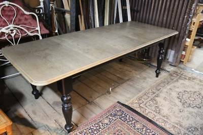 A Farm House Style Large Oak Extention Dining Table 2.46m