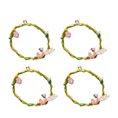 4x Angel Garland Charms Bracelet Necklace Earrings Findings Craft Supplies