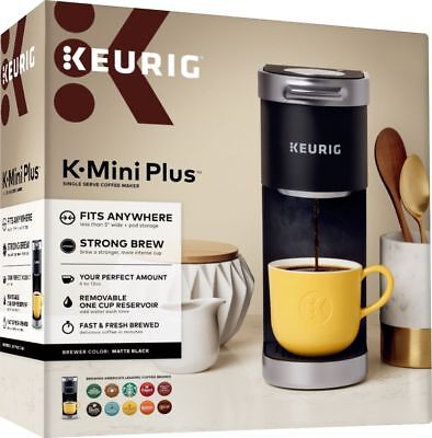 Keurig, K-Mini Plus, Single Serve K-Cup Coffee Maker, Matte Black | BRAND NEW