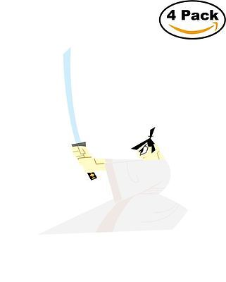 Samurai Jack 4 Stickers Cartoon Window Sticker Decal 4X4_6