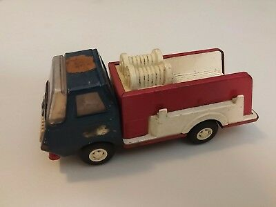 Vintage Tonka Steel Pumper Blue Red Fire Truck 1960s -1970s Mound, Minn. 6""