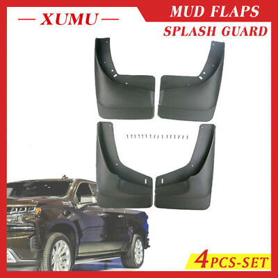 A-Premium Splash Guards Mud Flaps Mudflaps for Chevrolet Silverado 1500 2500 3500 2500HD 3500HD 2014-2018 Without Fender Flares Excluding/ Dual/ Rear/ Wheels