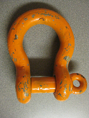 "Crosby 1-1/4"" Heavy Duty Anchor Shackle WLL 12 Ton / 24,000lbs Screw Pin WLL 12T"
