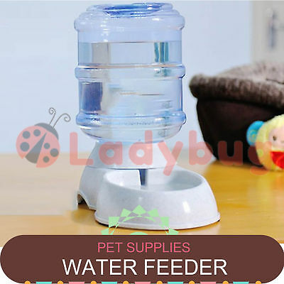 Large Automatic Pet Dog Cat Water Feeder Bowl Bottle Dispenser Plastic