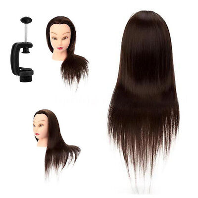 Cosmetology Mannequin Head Human Hair Hairdresser Training Doll Model Manikin
