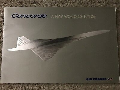 Concorde A New World of Flying Air France Booklet 1976