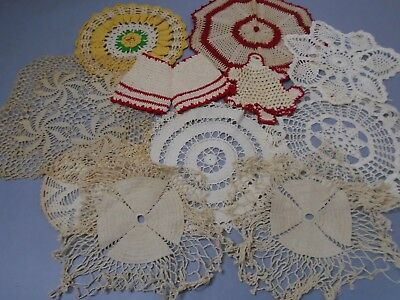 Antique hand Crocheted lot of 7 Doilies In good antique as pictured condition Me