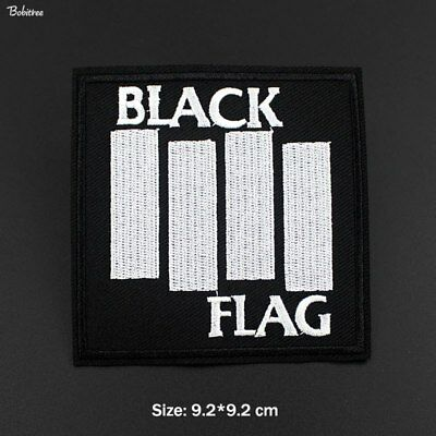 BLACK FLAG Embroidered Sew/Iron On Applique Patch Band Badge Punk Rock Biker