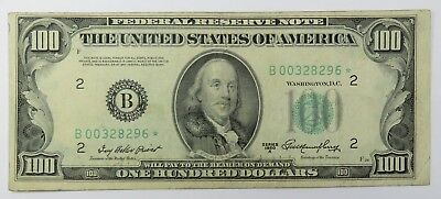 1) $100 Federal Reserve Hundred Dollar Bill  old Currency
