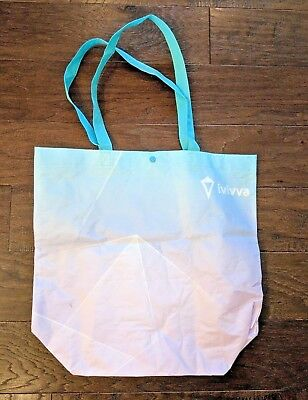 Lululemon Ivivva Girls Resuable Bag Tote Gradient Colors Blue Turquoise