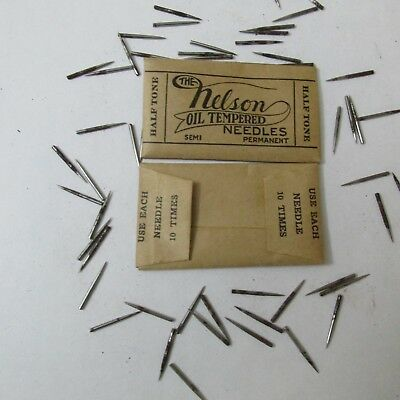 Antique Victrola Needles 100 Half Tone  needles  in original packages