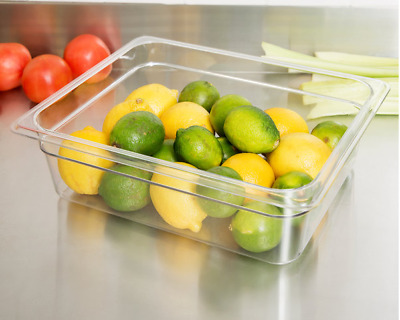 1/2 Size Clear Polycarbonate Food Tray/Pan 100mm Deep