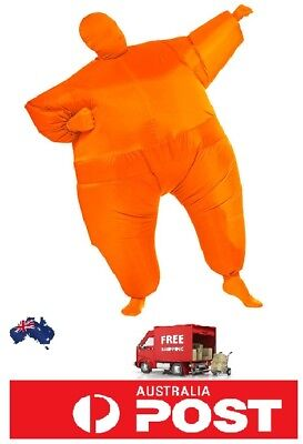 Inflatable Fancy Chub Fat Masked Suit Dress Blow Up Halloween Party Costume Chub