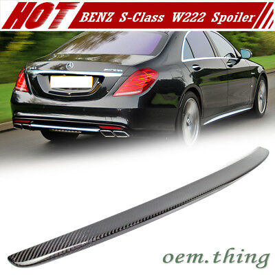 Carbon Mercedes BENZ S-Class W222 Saloon OE Trunk Boot Spoiler 2019