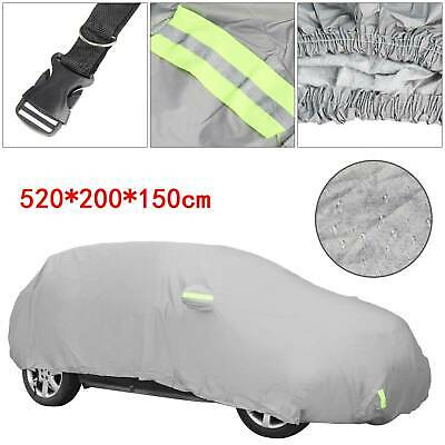 Universal Large Full Car Waterproof Cover Cotton Lining Breathable UV Protection