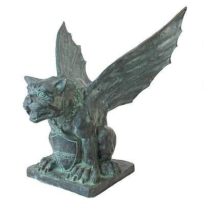 100% BRONZE Medieval Winged Gargoyle  Statue Sculpture Replica Reproduction