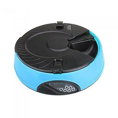 PETFLY Automatic Pet Feeder Separate Compartments Food Trays Secure Locked...