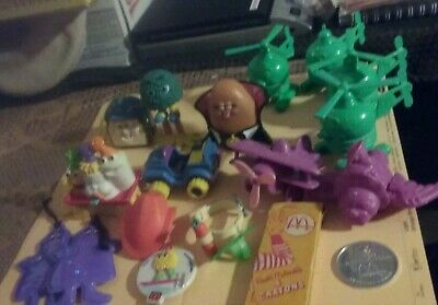 38 Mcdonald's collectibles. Happy meal boxes, figure, cards more...1978-2003