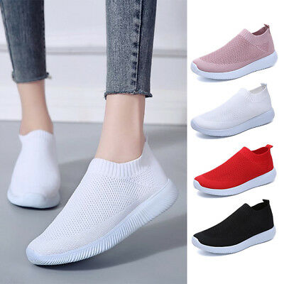 Women's Mesh Shoes Sneakers Running Sport Casual Pull On Trainer Casual Shoes