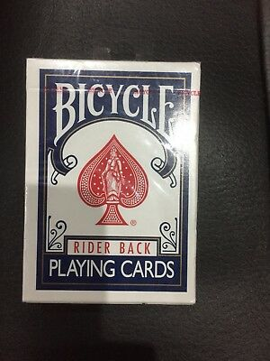 Magician Bicycle Rider Back 807 Playing Cards - Classic Tuck Box BLUE 2 Decks