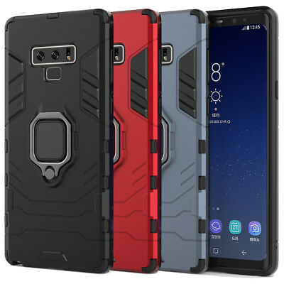 360 Ring Kickstand Hard Armor Case Cover For Samsung Galaxy S10 / S9 / Note 9