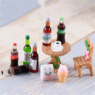5PCS Mini Beer Drinks Milks Dollhouse Miniature Play Food for s Doll Toy EO