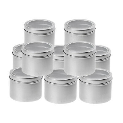 10x Screw Round Tins 100ml For Lip Balm Crafts Cosmetics Candles Storage Kit