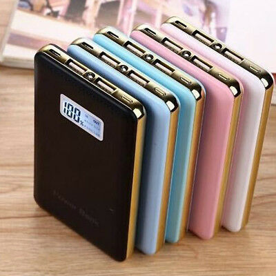 Ultra Thin LED 20000mAh Portable External Battery Charger Power Bank for Phone