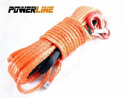 Kunststoffseil Seilwinde 11mm 28m 11,8 t Haken Winde Synthetikseil 4x4 PowerLine