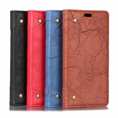 Retro PU Leather Magnetic Flip Wallet Case For Samsung Galaxy NOTE HTC U11