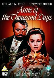 Anne Of The Thousand Days Dvd Richard Burton Brand New & Factory Sealed