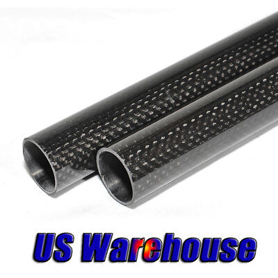 2pcs 6mm Carbon Fiber Tube 7mm x 6mm x 500mm/1000mm 3K Rolled Pipe RC Model US