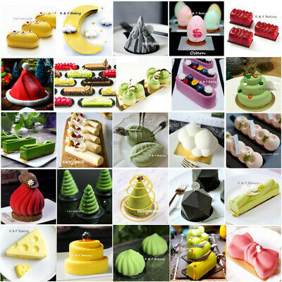 Art Baking Mould Mousse Cake Silicone Mold DIY Bakeware Chocolate Pudding Mold