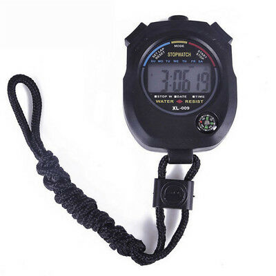 Meter Counter Digital LCD Stopwatch Sports Outdoor Alarm Stopwatch Waterproof