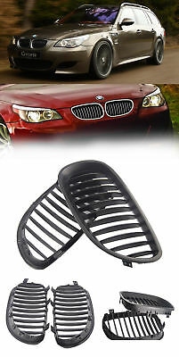 2x Matte Black Front Kidney Grill Grille For BMW E60 E61 5 Series M5 2003-2010
