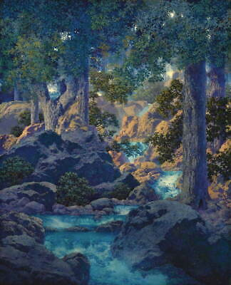Maxfield Parrish The Lantern Bearers Giclee Art Paper Print Poster Reproduction