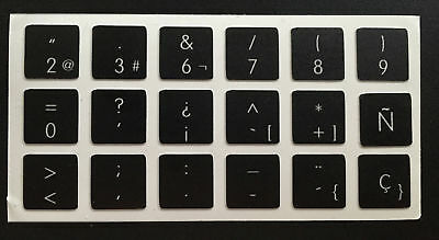 Pegatinas teclado español Apple MacBook Pro 2006-2015 Spanish Keyboard Stickers