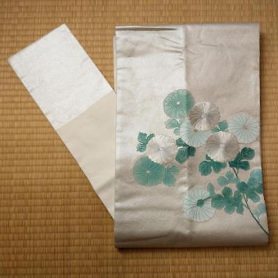 【NAGOYA-OBI】JAPANESE VINTAGE SILK OBI, Made in Japan.(O-028)