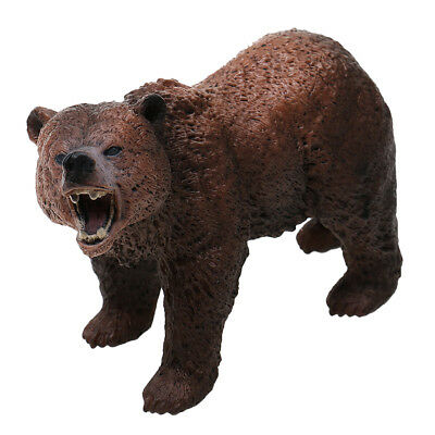 Lifelike Brown Bear Animal Figure Wildlife Role Play Figure Figurine Kid Toy