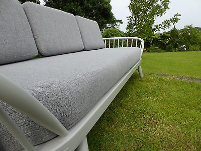 Cushions & Covers Only. Ercol Studio Couch/Daybed. Light Grey Stitch Citadel 832