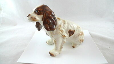 Brown & White ENGLISH SPRINGER SPANIEL DOG Figure Figurine Ceramic