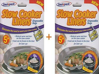 2 X Sealapack Slow Cooker Liners 5 PACK For Round/Oval Slow Cookers No Mess Bags