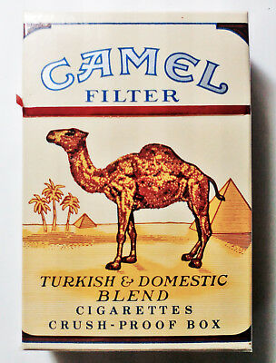 """1 VINTAGE ('60s-'70s) COLLECTIBLE CIGARETTE PACK- """"CAMEL"""" (FILTER-CPBOX) - EMPTY"""