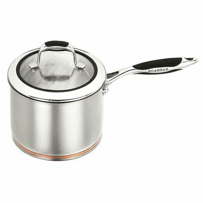 Scanpan Coppernox - Copper Based Saucepan with Glass Lid 18cm 2.5Ltr