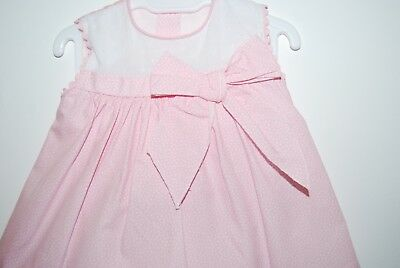 Baby Girls Pink Spanish Cotton Bow Dress & Knickers Outfit Up to 24 Months SS19