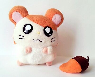 Vintage RARE Japan Hamtaro hamster with magnet nuts plush toy 11cm Authentic