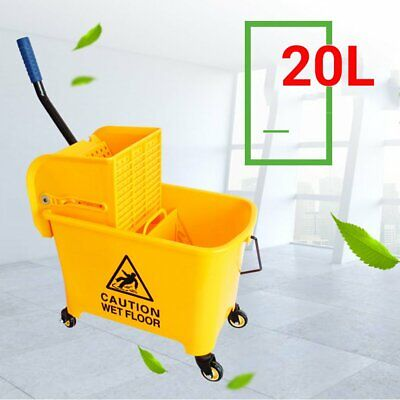 Heavy Duty Kentucky Mop Bucket With Strong Wringer - 20L - Yellow