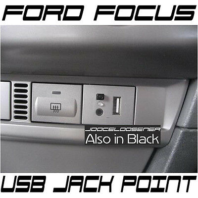 Ford FOCUS USB Dash Connection Module Point Custom MP3 + 3.5mm Jack SILVER