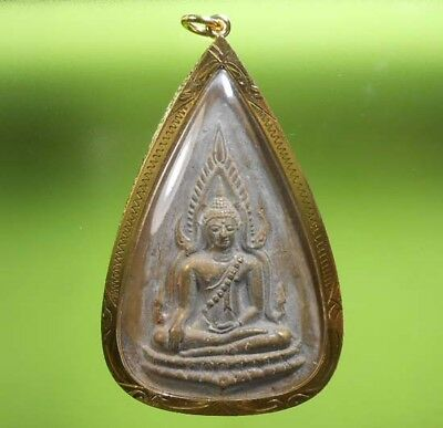 Real Coin Chinnaraj Old Thai Buddha Amulet Very Rare !!!