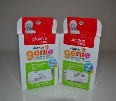 2 Packs Diaper Genie Playtex Carbon Filter Refill Tray NEW Free Shipping